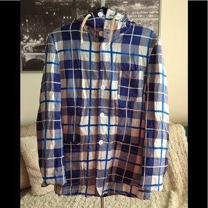 Comme des Garçons Shirt Hooded Button Down Jacket